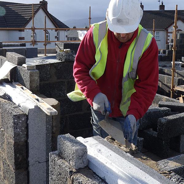 Builder working on Fairbuild zero carbon home
