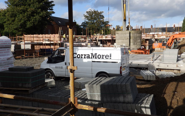 Corramore Construction at Victoria Close, Sydenham, East Belfast