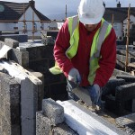 Builder working on Fairbuild zero carbon home