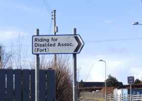 Sign for The Fort Riding Centre for disabled