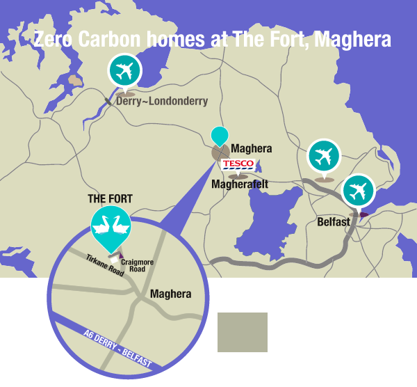 The Fort, Maghera Location Map